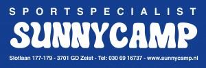 Sunny Camp logo blauw Sportspecialist